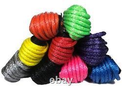 100ft 11mm Synthétique Purple Winch Rope, - Crochet, Auto Récupération 4x4 Qualité Uhmwpe