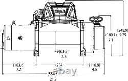 103255 Avertir Vr12-s 12k Lb Auto-récupération Winch Électrique Avec 90ft De Corde Synthétique