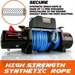 12000lbs Synthétique Rope Winch Imperméable Ip67 Avec Télécommande Sans Fil