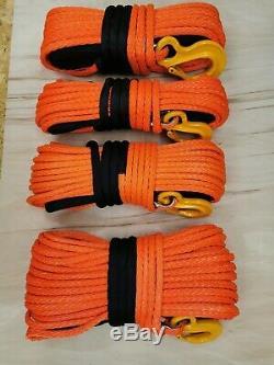 12mm 15mm Orange Qualité Corde Treuil Synthétique Uhmwpe Choisir Diamètre Et Longueur