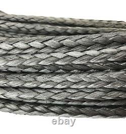 12mm Dyneema Sk75 Synthetic 12-strand Treuil Corde X 20m Avec Crochet Hors Route Vtt