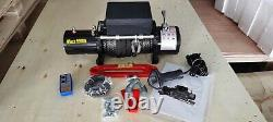 12v 9500lb Winch Off Road Recovery Synthetic Rope