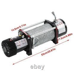 12v Treuil Électrique De Récupération Synthétique Corde À Distance Sans Fil Fil D'acier