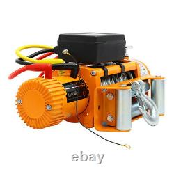 13500lb Electric Winch Synthetic Rope, Heavy Duty 44 Atv Recovery