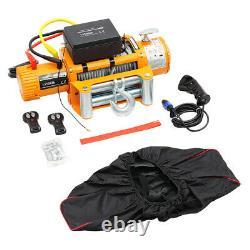 13500lb Treuil Électrique De Corde Synthétique, Heavy Duty 44 Atv Recovery
