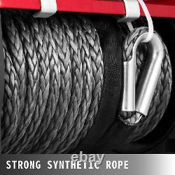 13500lbs 12v Electric Synthetic Rope Winch Single Line 4-way Télécommande
