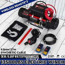 13500lbs 12v Électrique Corde Synthétique Treuil 6123,5 KG Train D'engrenages Rouleaux