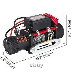 13500lbs 12v Électrique Synthétique Corde Treuil 6123.5kg Gear Train Roller Fairlead