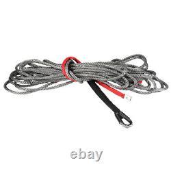 27m10mm Rope De Câble De Ligne De Treuil Synthétique 20500 Lbs Vus De Service Lourd Véhicule Vtt