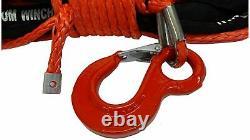 28m 10mm 13500 Lbs Rope De Treuil Synthétique Rouge Avec Fil De Crochet 4x4 Uhmpe