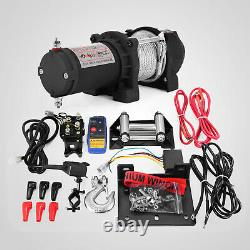 300013500lbs Electric Winch Steel/synthetic Rope 12v Atv Boat 4x4 Récupération