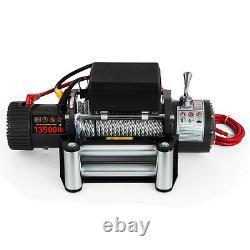 300013500lbs Treuil Électrique Acier / Corde Synthétique 12v Atv Boat 4x4 Récupération