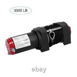 3000lb / 1360kg 12v Treuil Électrique Avec Corde Synthétique- Stock Uk