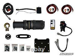 3500 Lb De Corde Synthétique Atv & Utv Winch -avec Télécommande Sans Fil