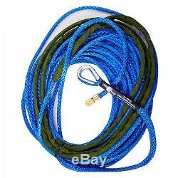 3/8 X 80' Amsteel Bleu Ligne Principale Synthétique Treuil Corde Câble Utv Vtt Suv