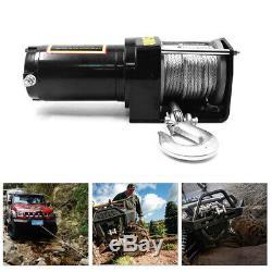 4000lb Treuil Électrique 12v Vtt Utv Remorquage Camion Synthétique Corde De Commande Sans Fil
