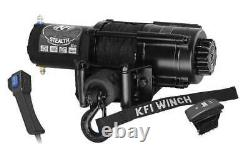 4500lb Kfi Stealth Synthetic Rope Winch Kit Sxs Utv Jeep Truck Buggy Sand Rail