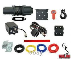 4500lbs Utv/atv Winch (avec Télécommande Sans Fil Et Corde Synthétique)