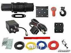 6000 Lb Utv/atv Winch (avec Télécommande Sans Fil Et Corde Synthétique)