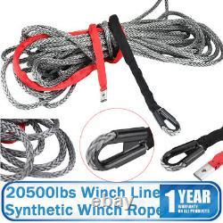88,6' Longueur 20500 Lbs Edition Treuil Synthétique Rope & Hawse Fairlead Noir