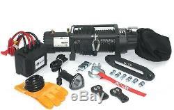 Ac-dk 12v 9500 Lb Treuil Électrique Synthétique Corde De Remorquage De Remorques De Camions Jeep 4 Roues Motrices