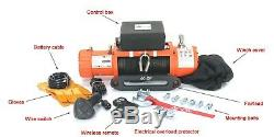 Ac-dk 12v Étanche Ip67 De Treuil Électrique Corde Synthétique Pour La Récupération