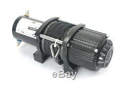 Ac-dk 4500lbs Treuil Électrique 12v Corde Synthétique 4 Roues Motrices Vtt Utv Treuil De Remorquage Camion