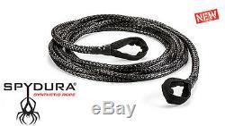 Avertir 3/8 X 50' Spydura Corde Synthétique Extension 10000 Lb Capacité Treuil