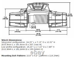 Avertissez Zeon 12 Platinum Series Winch 12,000 Lbs Synthetic Rope Truck Jeep Suv