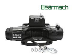 Bearmach 12 000 Lb 12v Treuil Land Rover Rope Synthétique Et Télécommande Sans Fil