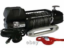 Bulldog Winch 10045 9500lb With5.5hp Motor 100ft Synthetic Rope Hawse Fairlead