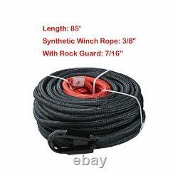 Câble De Ligne De Corde De Treuil Synthétique Avec Protection Thermique Rock Pour Camion De Récupération 4x4 Atv