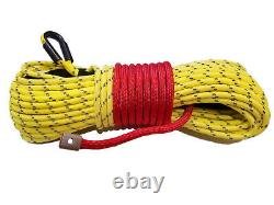 Câble Synthétique De Corde De Treuil 3/8 X 100' 30.000 Lb Capacité Jaune