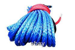 Câble Synthétique De Corde De Treuil 7/16 X 100' 30.000 Lb Capacité Bleue Are