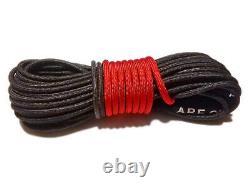 Câble Synthétique De Corde De Treuil 7/16 X 100' 30.000 Lb Capacité Noire