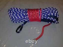 Câble Synthétique De Corde De Treuil 7/16 X 100' 30.000 Lb Capacité Pourpre