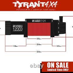Carbone 12k 12000lb Treuil Électrique Synthétique Corde Pour Convenir Mitsubishi Triton Mq Mr
