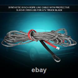 Corde De Câble De Ligne De Treuil Synthétique De 27m10mm 20500 Lbs Avec Véhicule De Vtt De Vus Épais