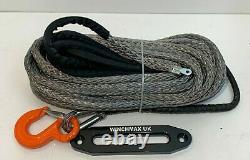 Corde De Treuil Synthétique 13mm X 30m, Accessoire De Récupération Dyneema Sk75 Crochet Et Hawse