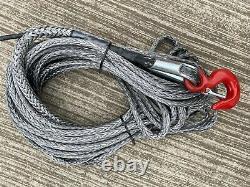 Corde De Treuil Synthétique Hmpe Dyneema Avec Crochet 4x4 6mm À 16mm Différentes Longueurs