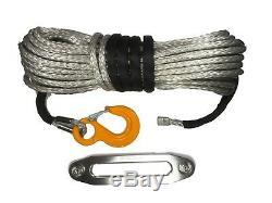 Corde Synthétique Gris Argenté Winch & Hawse 30metre 10 MM Uhmwpe Auto Récupération