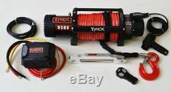 Corde Synthétique Treuil De Treuil Électrique 9500lb Sans Fil 4x4 Off Road Recovery