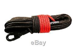 Corde Synthétique Treuil Ligne Noir Câble 7/16 X 150' 30000 Lb Avec Garde Rock