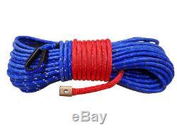 Corde Treuil Synthétique Ligne Câble 7/16 X 100' 30 000 Lb Bleu Capacité