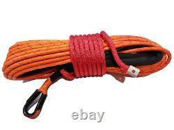 Corde Treuil Synthétique Ligne Câble 7/16 X 100' 30 000 Lb Capacité D'orange