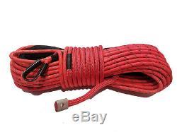 Corde Treuil Synthétique Ligne Câble 7/16 X 100' 30 000 Lb Capacité Rouge