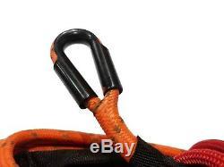 Corde Treuil Synthétique Ligne De Câble Orange 3/8 X 100' 30000 Lb Avec Garde Rock