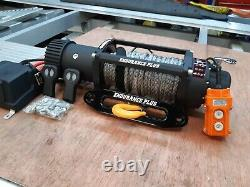 Electric Recovery Truck Winch & Plate Nouveau 7.2hp Synthetic Rope £389.00 Inc Cuve