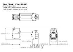 Electric Winch Superwinch Tigershark 11500 1511201 Avec Corde Synthétique 4x4 Nouveau