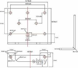 Fieryred 12v 4500lbs Kits De Treuils De Vtt Électrique À Corde Synthétique Pour Le Remorquage De Vtt/ut